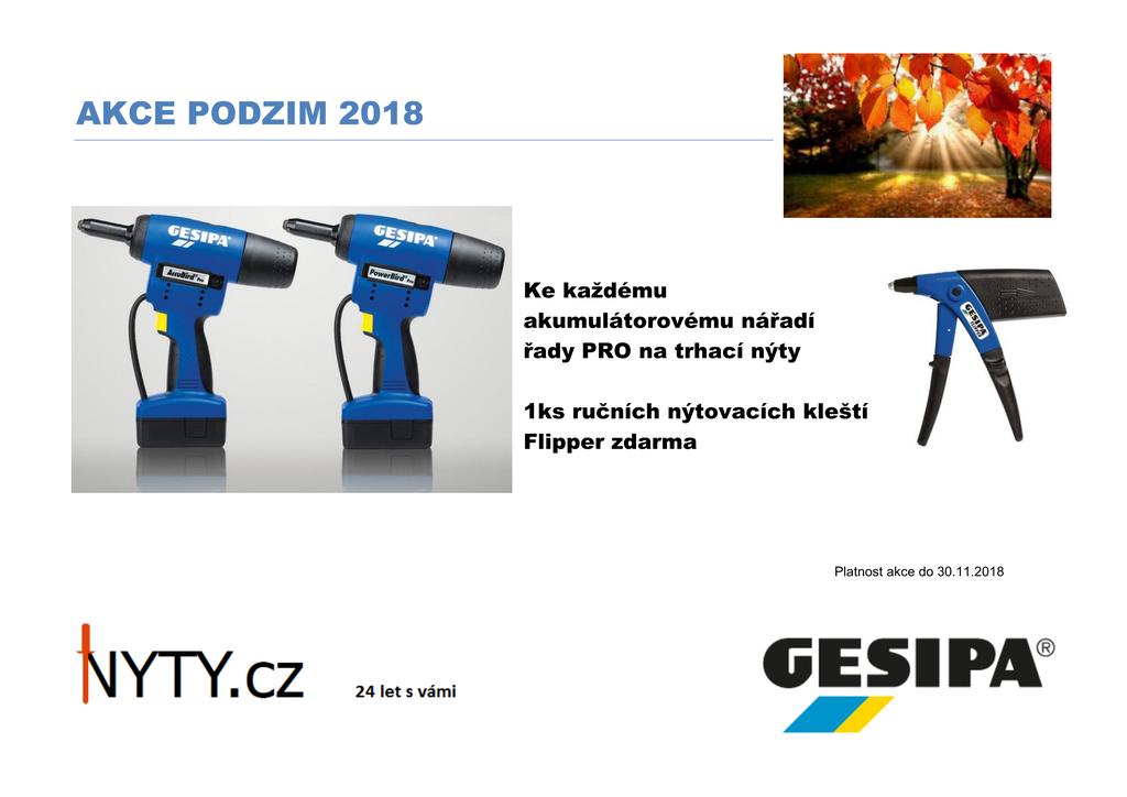 AKCE GESIPA - K výrobku řady PRO 1x Flipper ZDARMA